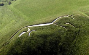 Uffington White Horse - aerial view